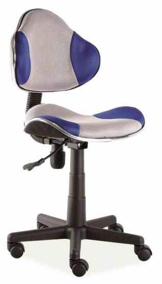 Scaun ergonomic de birou copii gri/albastru Q-G2  la pret 230 lei