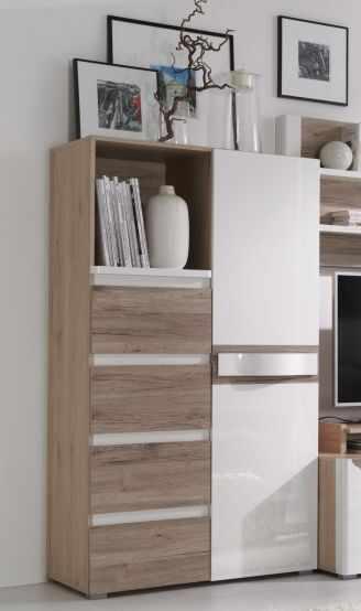 Comoda sufragerie lemn cu usa si 4 sertare PASSIONATA PS8 la pret 699 lei