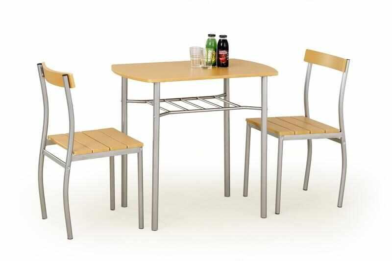 Set masa din MDF si metal + 2 scaune Lance Beech, L82xl50xH75 cm la pret 335 lei