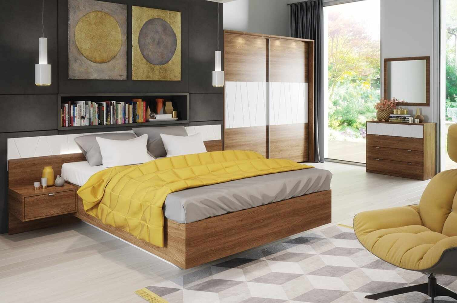 Set Mobila Dormitor 6 piese Zefir la pret 7030 lei