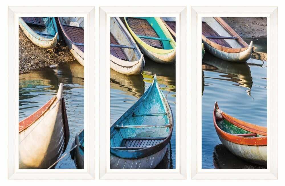 Tablou 3 piese Framed Art Fishing Boats la pret 1581 lei