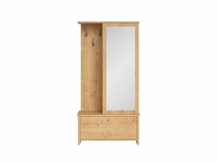 Cuier hol cu oglinda si pantofar stejar burlington Porto  la pret 1003 lei