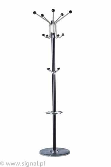 Cuier hol ingust CR-39, nuc inchis, structura din metal, h178 cm