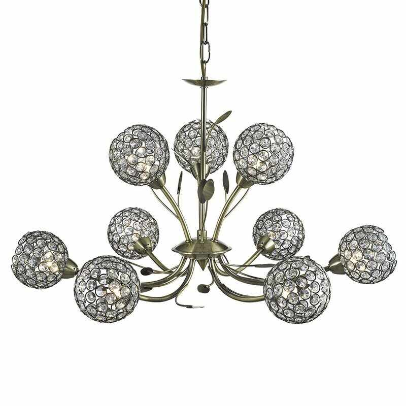 Candelabru Searchlight Bellis Brass IX la pret 2158 lei