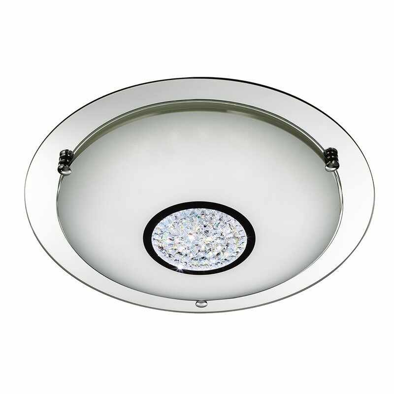 Plafoniera Searchlight LED Flush Crystal L la pret 734 lei