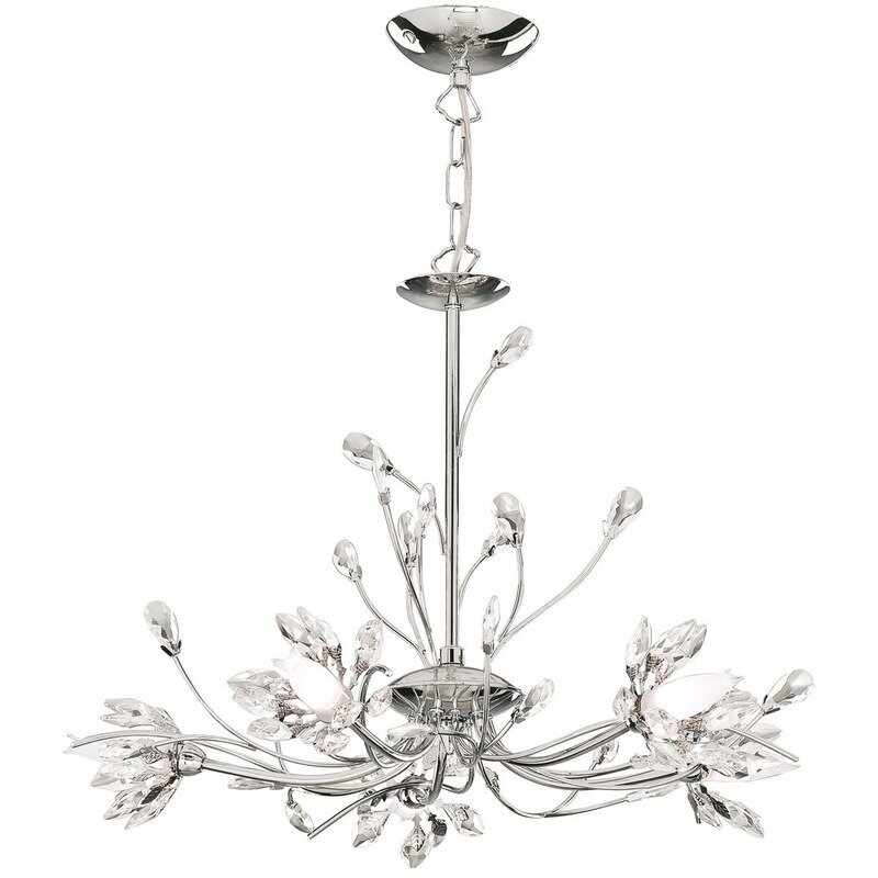Candelabru Searchlight Hibiscus Chrome V la pret 1547 lei