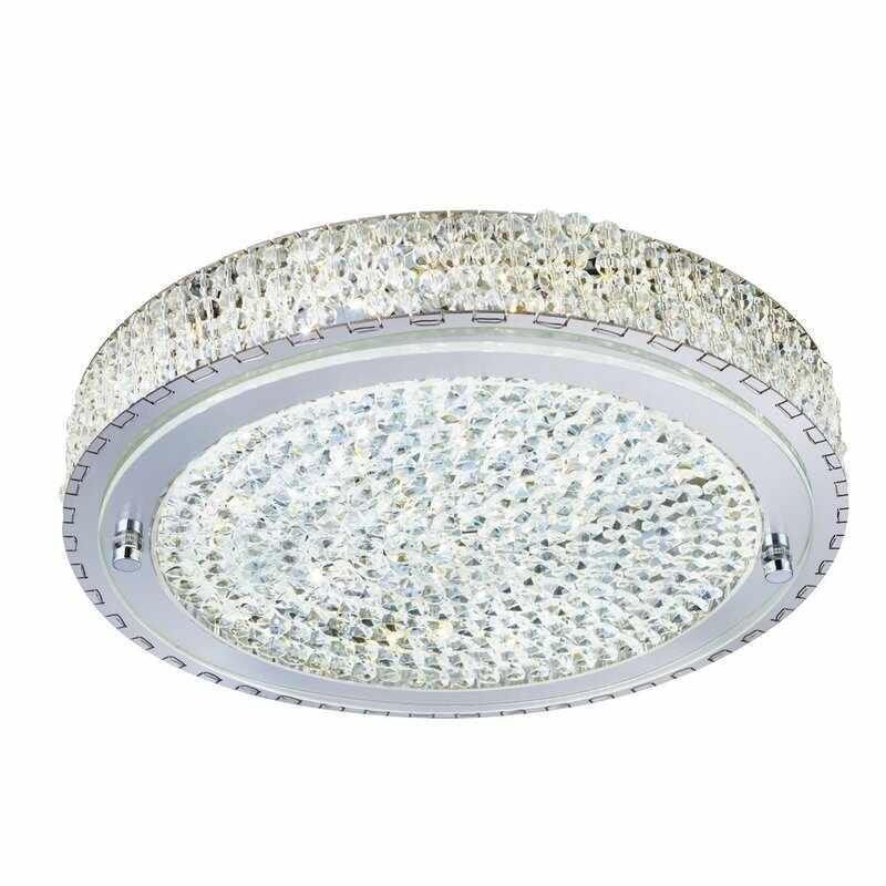 Plafoniera Searchlight Vesta Crystal LED la pret 1414.17 lei
