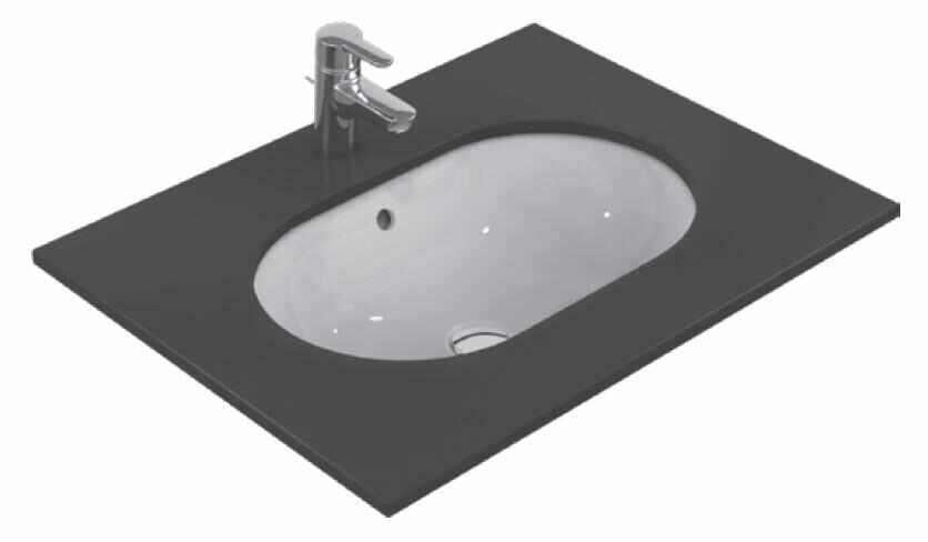 Lavoar Ideal Standard Connect Oval 62x41cm montare sub blat