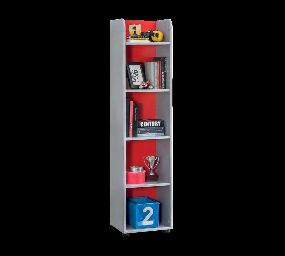 Biblioteca din pal, pentru copii Racer Cup Red / Light Blue, l39xA32xH160 cm la pret 449 lei