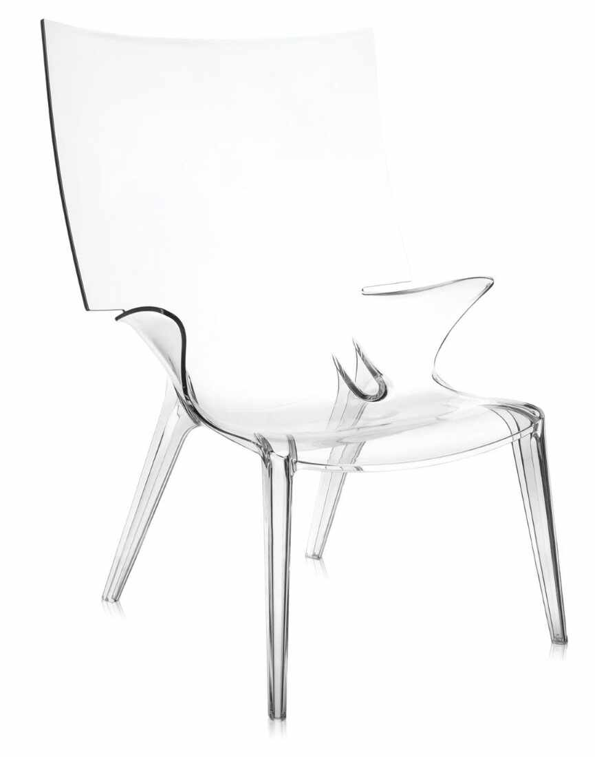 Scaun Kartell Uncle Jim design Philippe Starck transparent