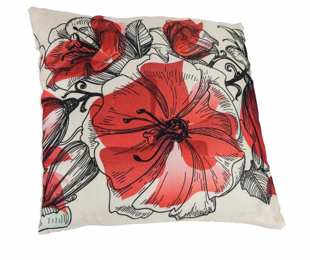 Perna decorativa Floralis Red 45x45 cm la pret 29.99 lei