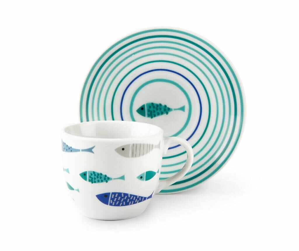 Set 6 cesti si 6 farfurioare North Sea 90 ml la pret 69.99 lei