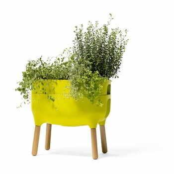 Vas pentru cultivarea plantelor Plastia Low Urbalive, înălțime 48 cm, verde la pret 369 lei