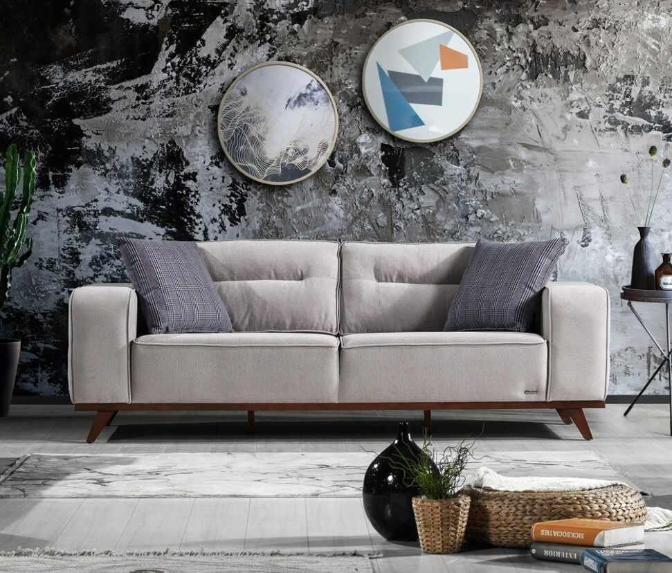 Canapea tapitata cu stofa, 3 locuri, cu mecanism electric si functie sleep pentru 1 persoana Oslo Gri K2, l237xA96xH88 cm la pret 4351 lei