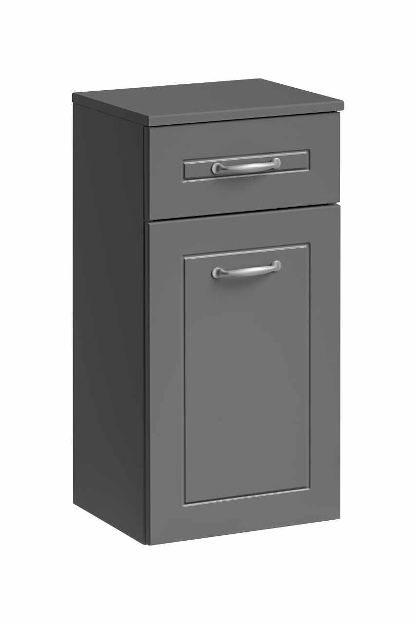 Dulap baie cu 1 usa si 1 sertar, Sophia Cement, l35xA30xH70 cm la pret 519 lei