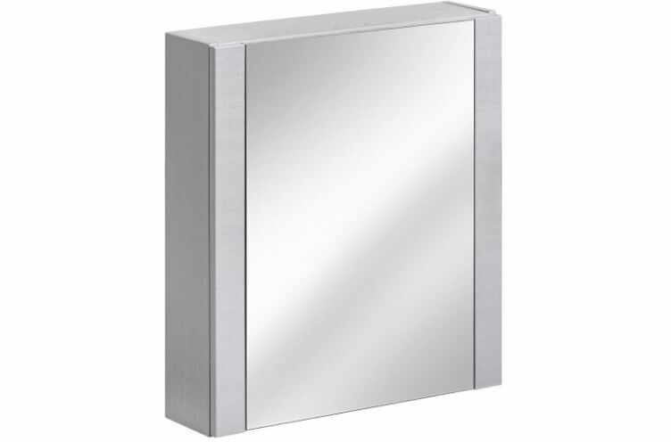 Dulap baie suspendat cu 1 usa si oglinda, Viento Terra, l60xA16xH69 cm la pret 433 lei