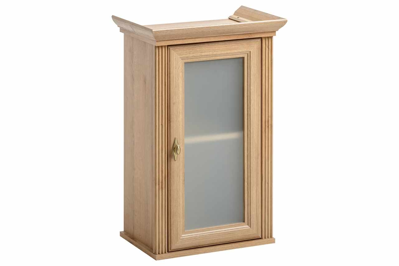 Dulap baie suspendat cu vitrina, 1 usa, Palace Riviera, l43xA30xH79 cm la pret 347 lei
