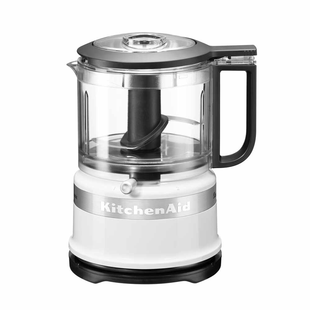 Mini Chopper Classic 5KFC3516EWH, 2 trepte de viteza, White, 830 ml, 240W, KitchenAid la pret 389 lei