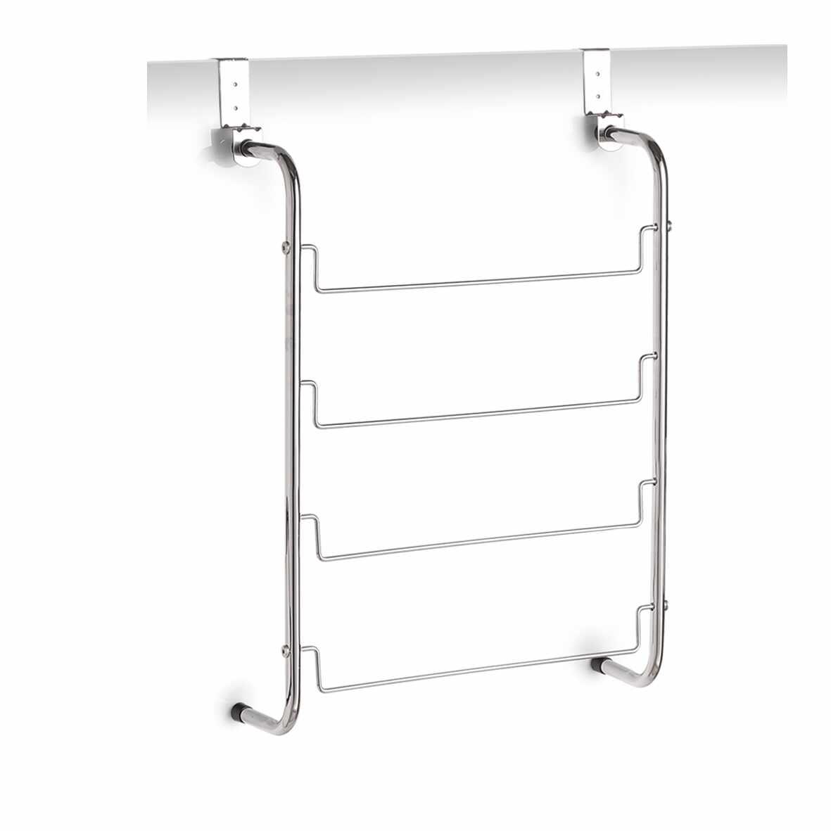 Suport de usa pentru prosoape, Metal cromat, l44xA12,5xH66,5 cm la pret 85 lei