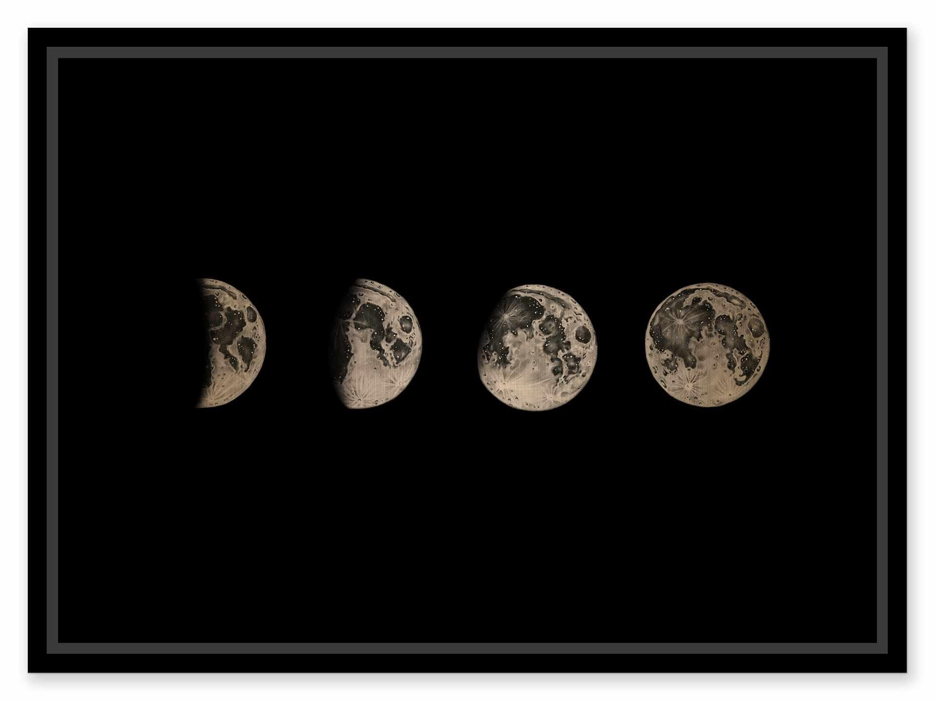 Tablou pe metal striat aramiu Moon Phases la pret 643 lei