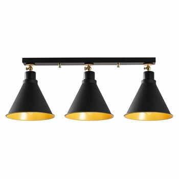 Plafonieră de 3 becuri Opviq lights Berceste Short, negru la pret 481 lei