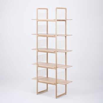 Bibliotecă din lemn masiv de stejar Gazzda Muse, 216 cm h la pret 6464 lei