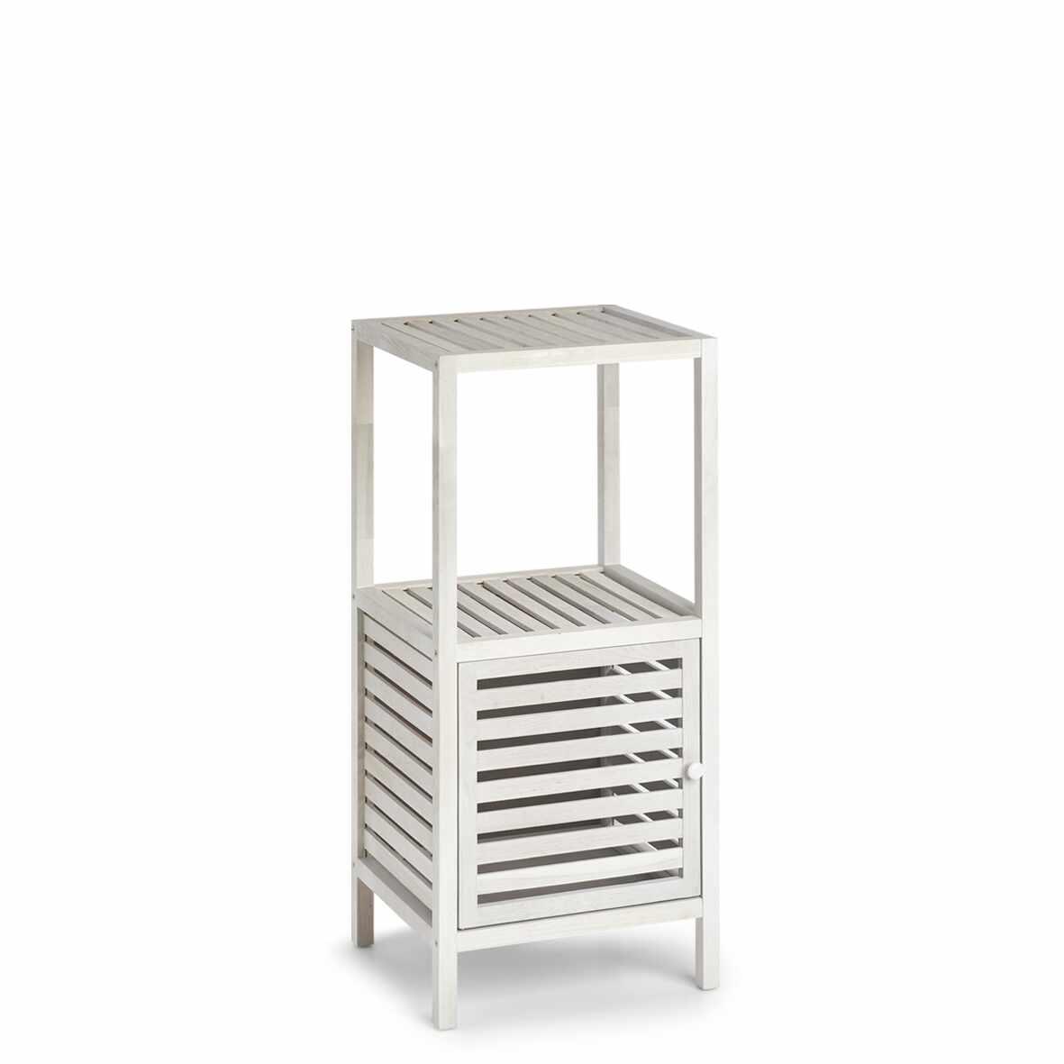 Cabinet din lemn cu 1 usa Wood Alb / Natural, l39,5xA35,5xH86,5 cm la pret 411 lei