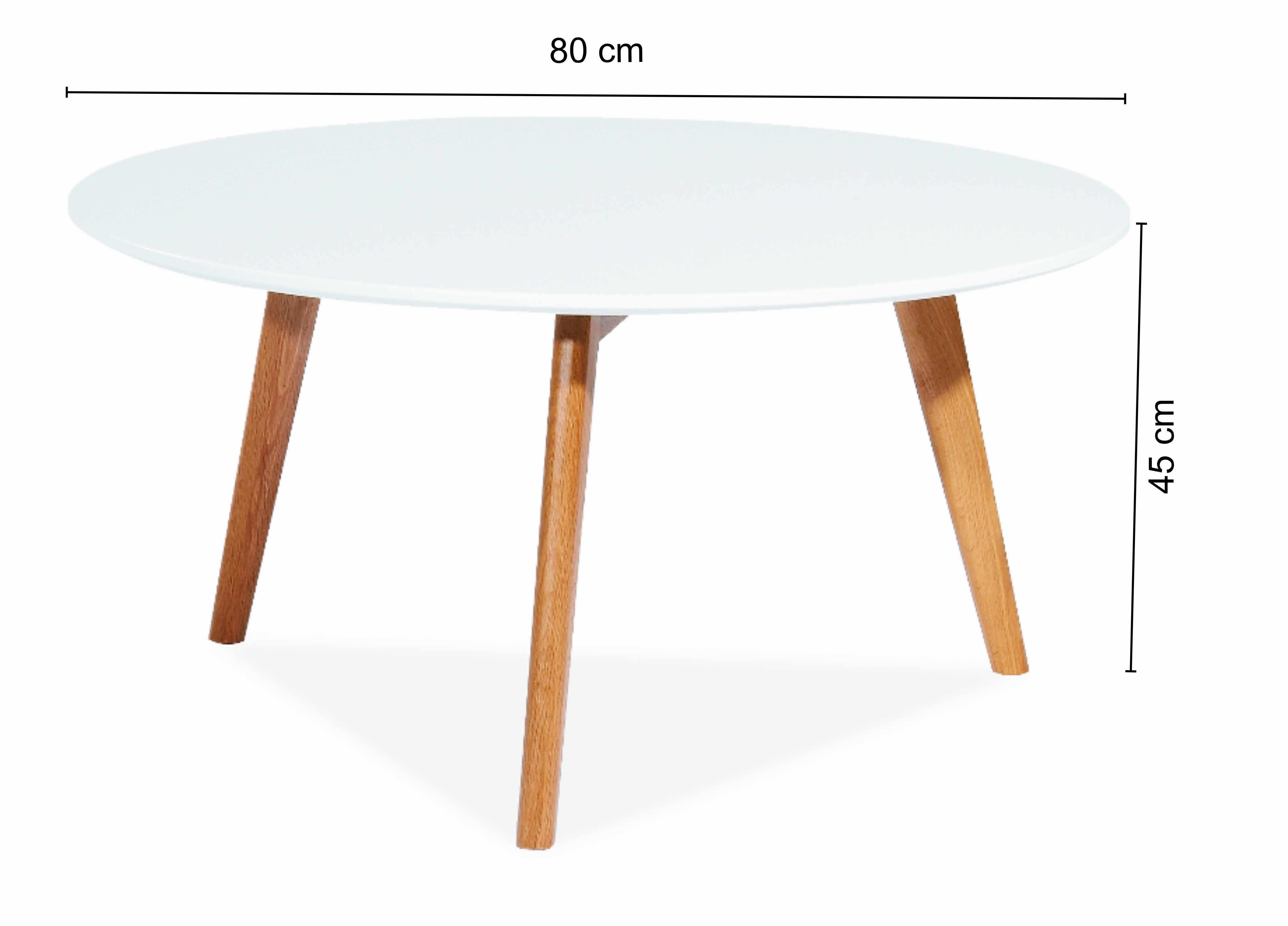 Masa de cafea Milan L1, Ø80xh45 cm la pret 466 lei