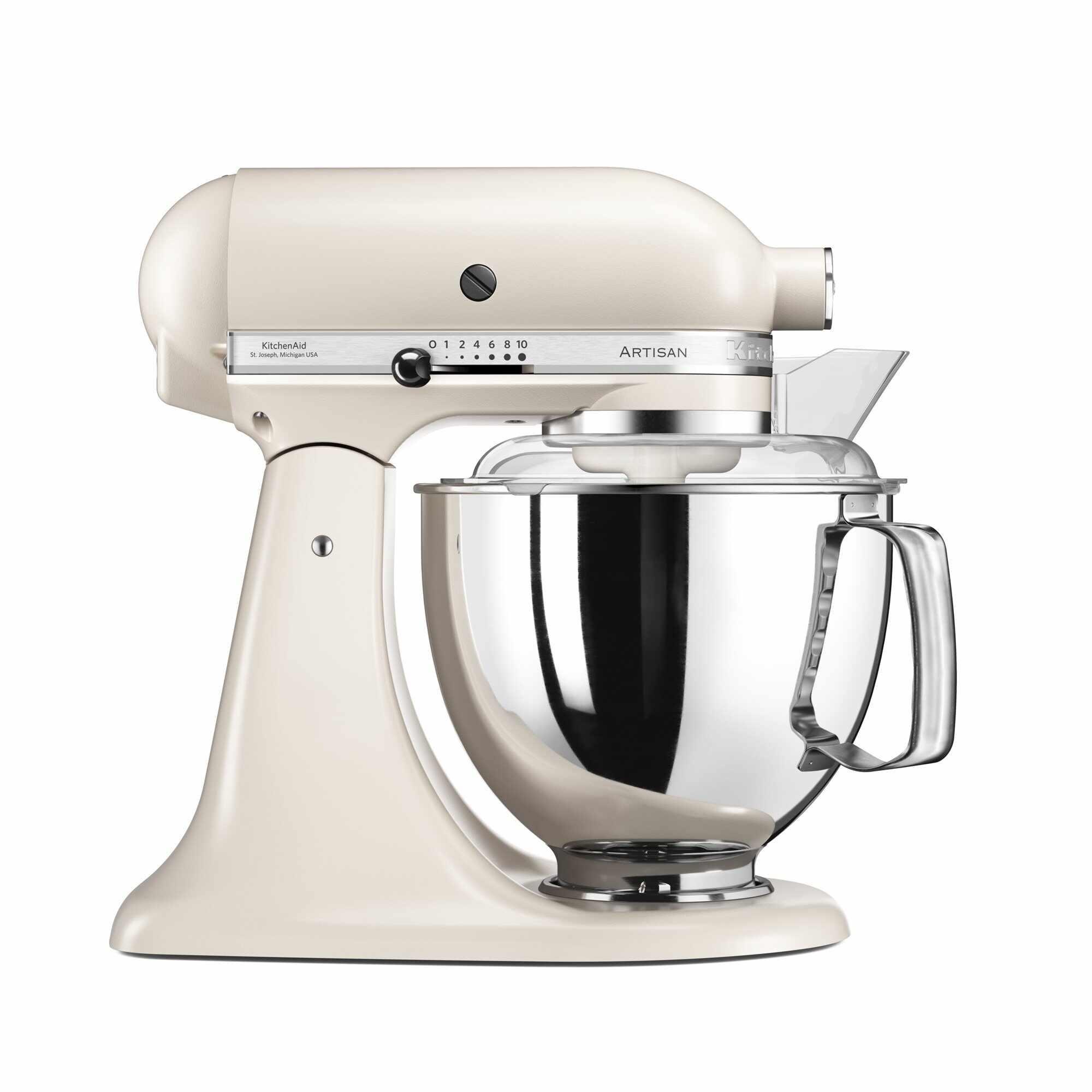 Mixer cu bol Artisan Elegance 5KSM175PSELT, 4,8 L, Cafe Latte, 300W, KitchenAid la pret 2899 lei