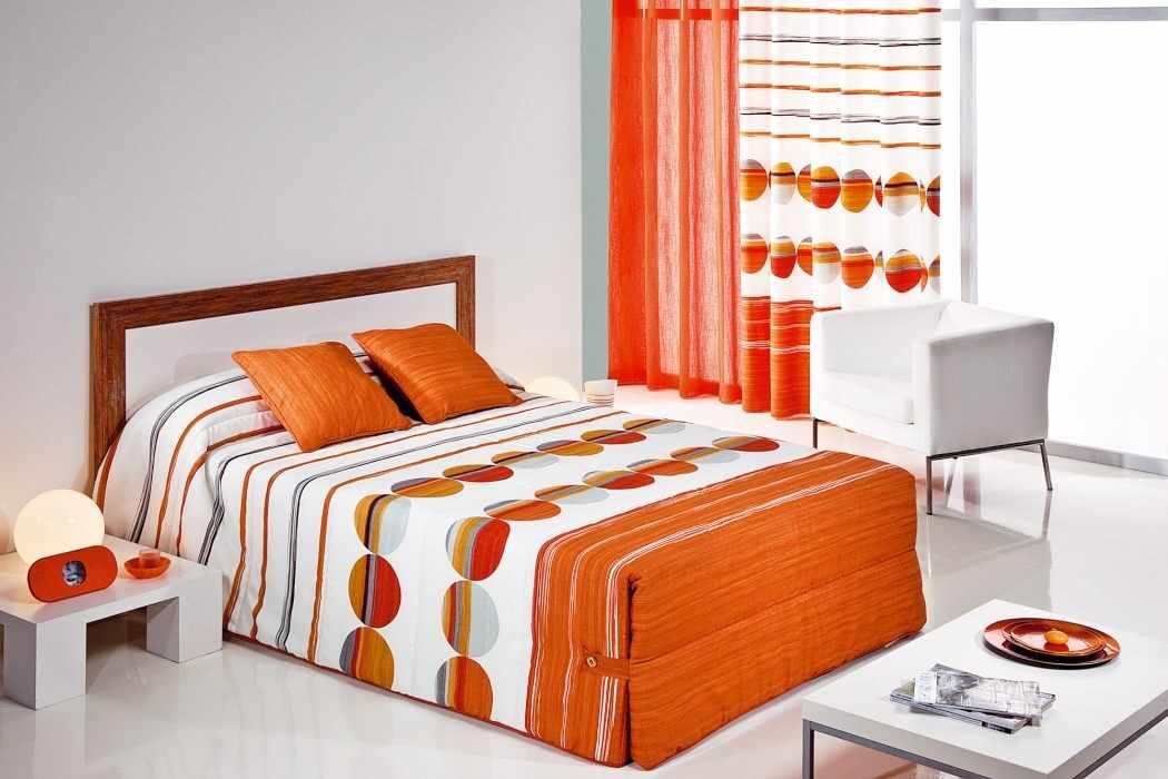 Cuvertura de pat SIPO 02 portocaliu, dimensiune 250 cm x 270 cm la pret 590 lei