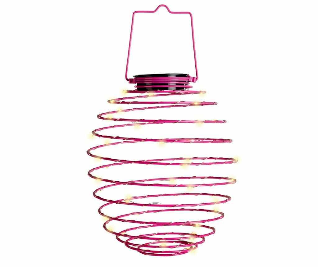 Lampa solara Spiral Pink la pret 49.99 lei