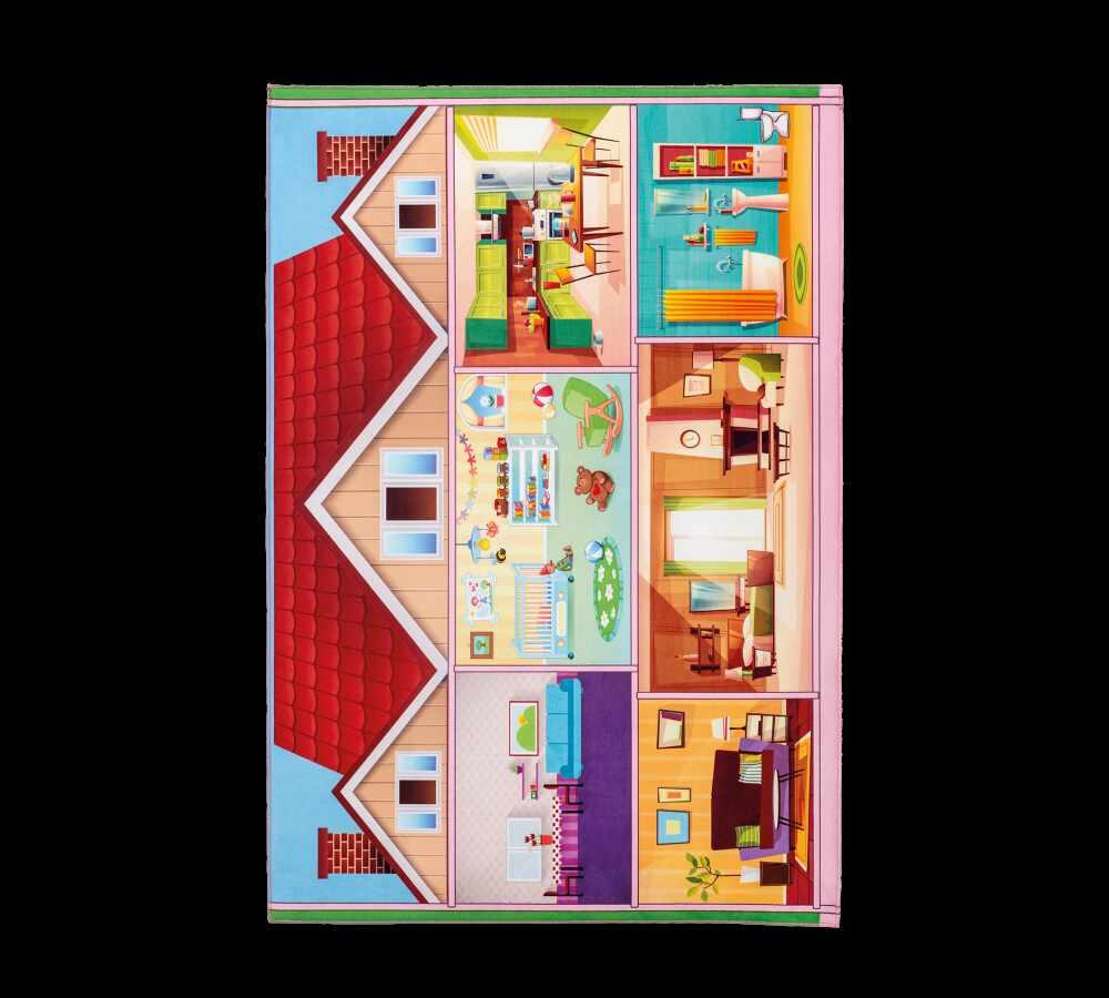 Covor pentru copii din PE Soft Play House Multicolour, 100 x 150 cm la pret 282 lei