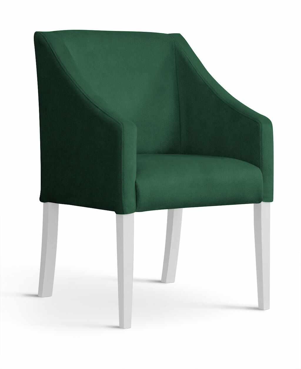 Fotoliu fix tapitat cu stofa, cu picioare din lemn Capri Green / White, l58xA60xH89 cm la pret 714 lei