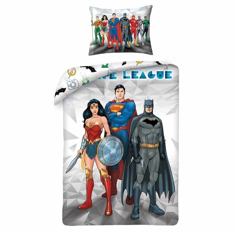 Lenjerie de pat copii Cotton Justice League JL-8101BL la pret 123 lei