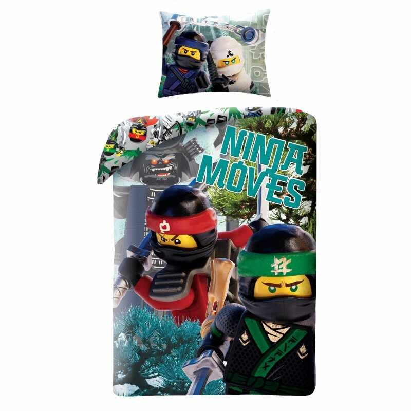 Lenjerie de pat copii Cotton Lego Movie LEG570BL la pret 148 lei