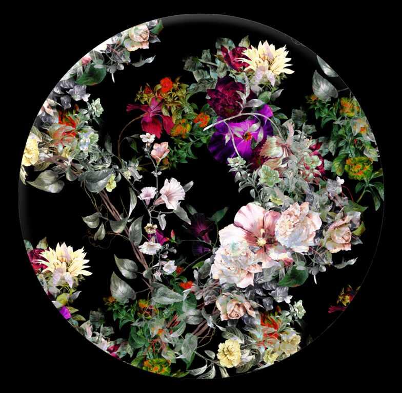Tablou Sticla Glasspik Ringart GR009 Floral, Ø70 cm la pret 253 lei