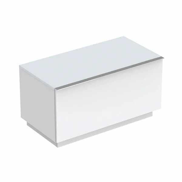 Dulap baie pe pardoseala alb mat Geberit Icon 1 sertar 89 cm la pret 3205 lei