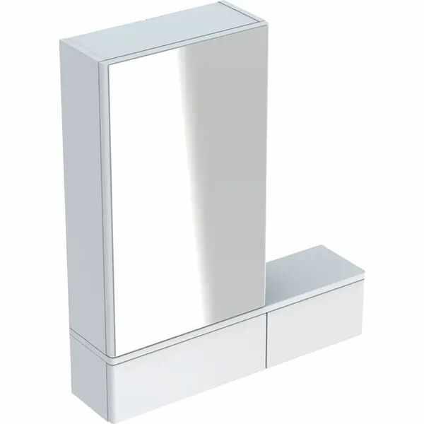 Dulap cu oglinda suspendat Geberit Selnova Square alb 1 usa dreapta 2 usi rabatabile 71 cm la pret 954 lei