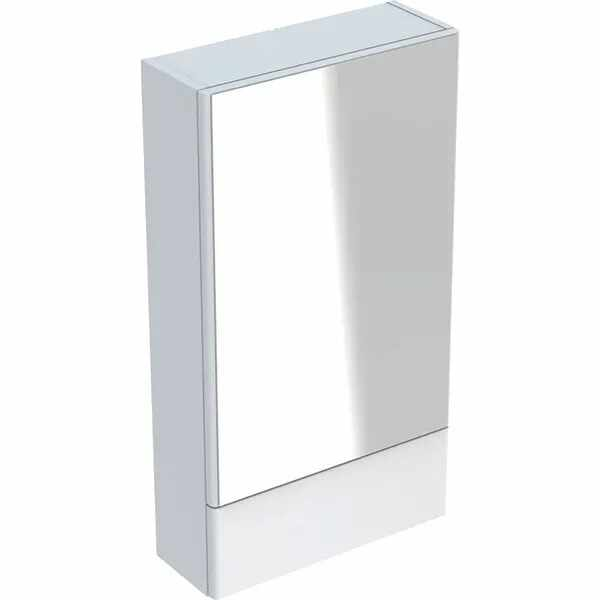 Dulap cu oglinda suspendat Geberit Selnova Square alb 1 usa simpla 1 usa rabatabila 47 cm la pret 716 lei