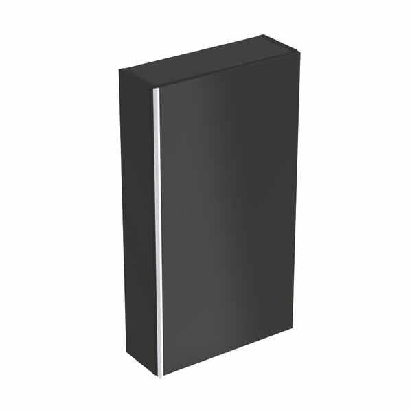 Dulap lateral suspendat negru Geberit Acanto 1 usa 45 cm la pret 2417 lei