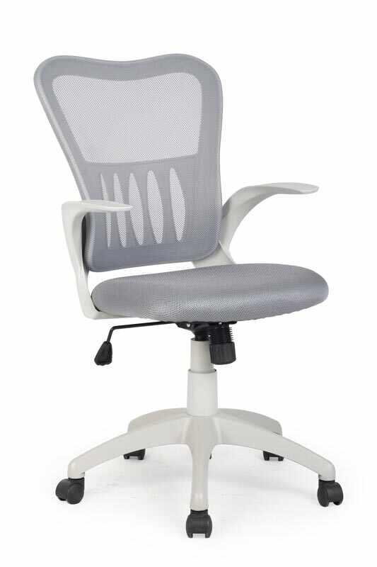 Scaun de birou ergonomic tapitat cu stofa Griffin Gri, l61xA55xH96-106 cm la pret 441 lei