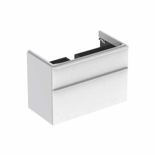 Dulap baza pentru lavoar suspendat Geberit Smyle Square alb 2 sertare 89 cm la pret 3272 lei