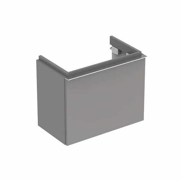 Dulap baza pentru lavoar suspendat gri Geberit Icon 1 sertar 52 cm la pret 2296 lei