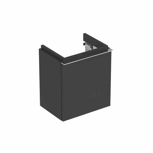 Dulap baza pentru lavoar suspendat negru Geberit Icon 1 usa opritor stanga 37 cm la pret 1906 lei