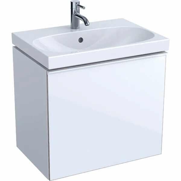 Dulap baza pentru lavoar suspendat proiectie mica alb Geberit Acanto 1 sertar 60 cm la pret 2847 lei