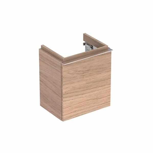 Dulap baza pentru lavoar suspendat stejar natural Geberit Icon 1 usa opritor dreapta 37 cm la pret 1718 lei