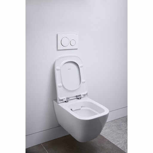Set vas wc suspendat si capac slim soft close Geberit Smyle Square la pret 1409 lei