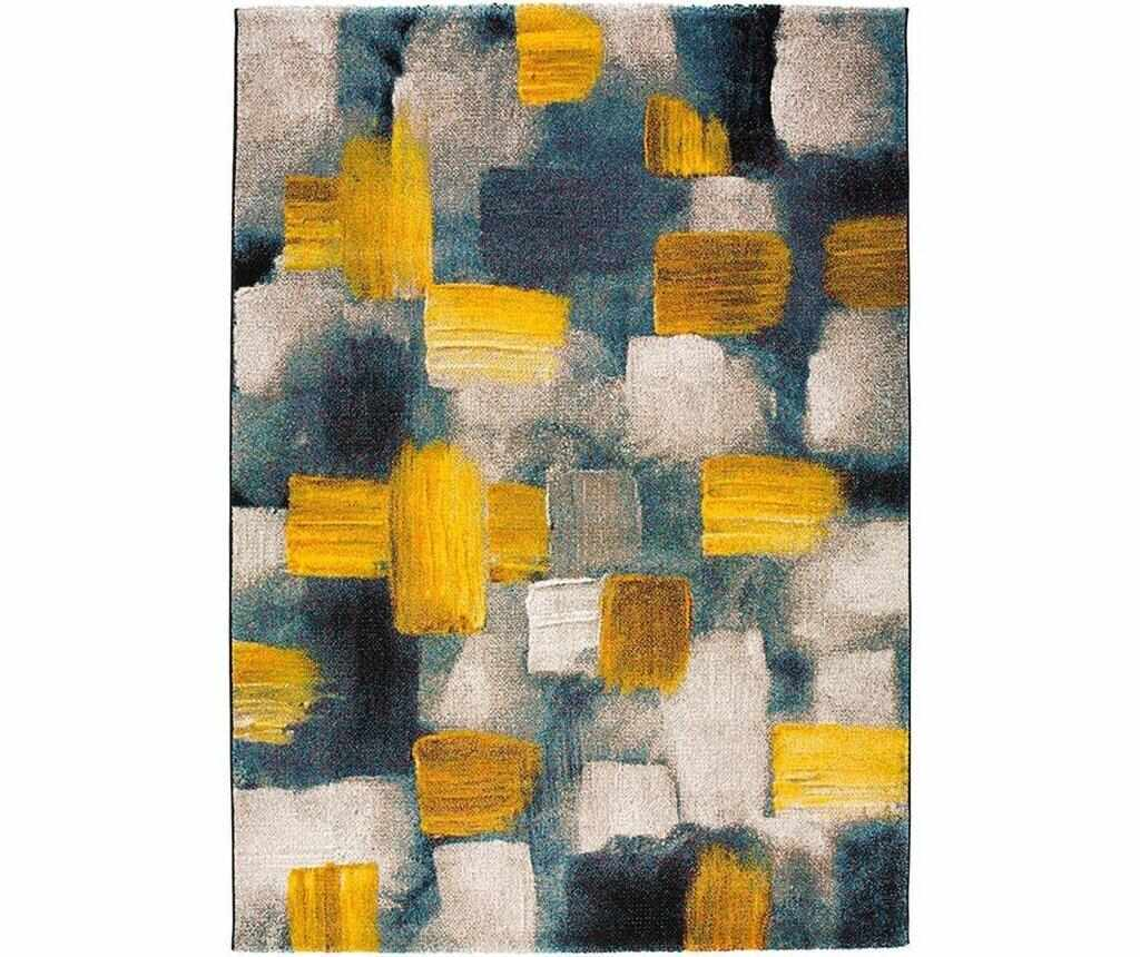 Covor Squares Yellow 200x290 cm