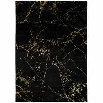 Covor Universal Gold Marble, 80 x 150 cm, negru
