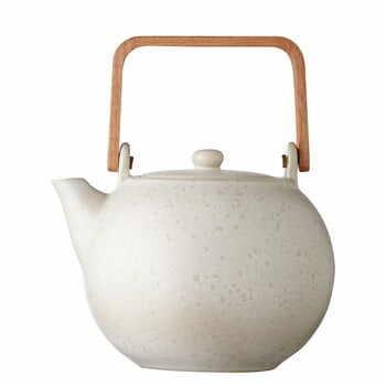 Ceainic din gresie ceramică Bitz Basics Matte Cream, 1,2 l, crem la pret 315 lei